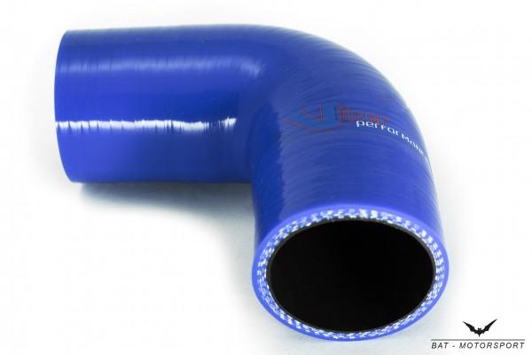 19mm 90° Silikon Schlauchbogen Blau